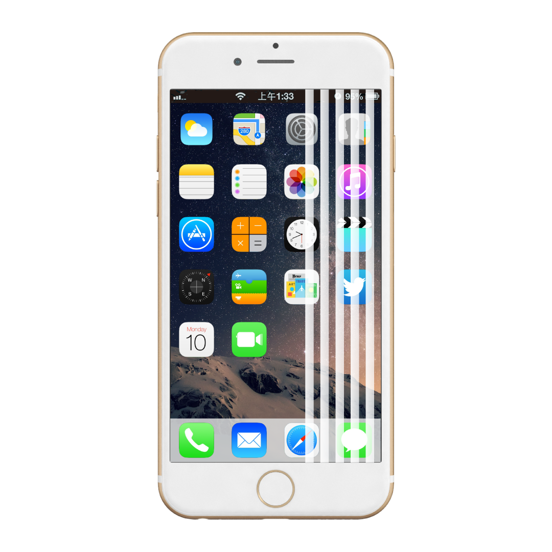 iphone-screen-Damage-Line-White